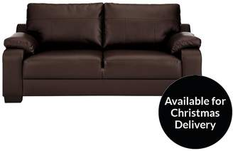 Dino Faux Leather 3 Seater Compact Sofa