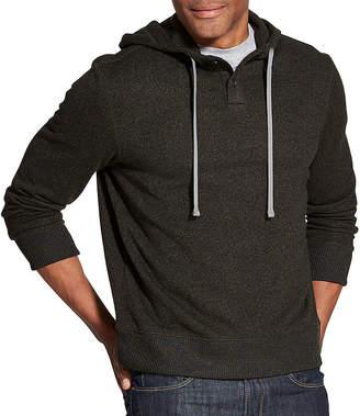 Van Heusen Never Tuck Sweater Fleece Hoodie Long Sleeve Fleece Hoodie