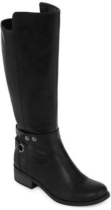 Arizona Womens Cuala Wide Calf Riding Boots Flat Heel Zip