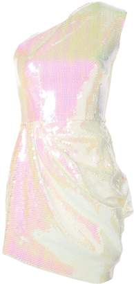 Alex Perry holographic one shoulder dress