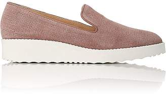 Barneys New York WOMEN'S PLATFORM-WEDGE LOAFERS