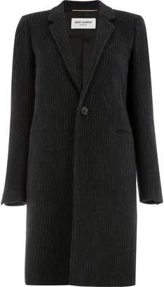 Saint Laurent 538486Y086T 1078 NOIR ANTHRACITE Cupro/Cotton/Wool/Cashmere