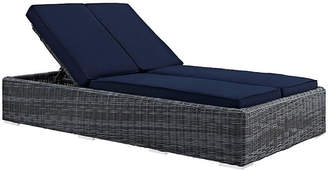 One Kings Lane Evince Double Chaise - Navy