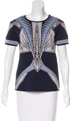 Herve Leger Dahlia Short Sleeve Top