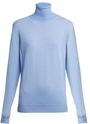 Stella McCartney Virgin Wool Roll Neck Sweater - Womens - Blue