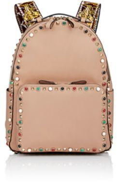 Valentino Women's Guitar Rockstud Medium Backpack-TAN $4,445 thestylecure.com