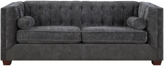 Coaster Correy Collection Chenille Sofa In Grey