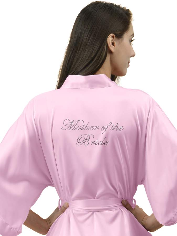 SIORO Personalized Satin Robes Bridal Wedding Party Pajamas Night Gowns for Bridesmaid, Lilac, XL
