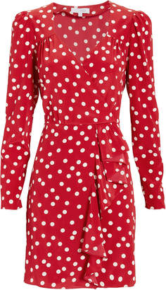 Intermix Florence Polka Dot Mini Dress