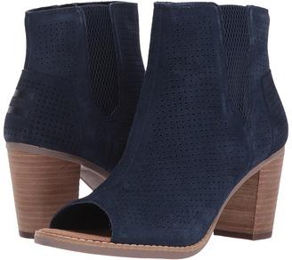 TOMS - Majorca Peep Toe Bootie Women's Toe Open Shoes $109 thestylecure.com