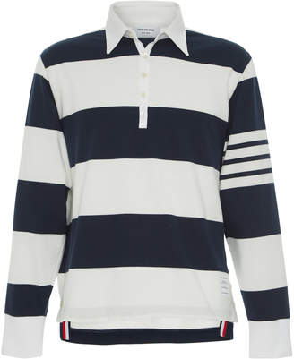 Thom Browne Oversized Cotton Rugby Polo