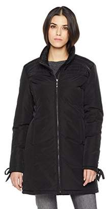The Portland Plaid Co. Women's Lightweight Quilted Jacket with Lace-Up Sleeves XL