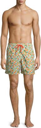 Blueport Swim Tapuz Orange-Print Swim Shorts