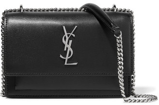 Saint Laurent - Sunset Textured-leather Shoulder Bag - Black $1,550 thestylecure.com