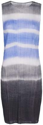 Pleats Please Issey Miyake Watery Stripe Knee Length Tunic