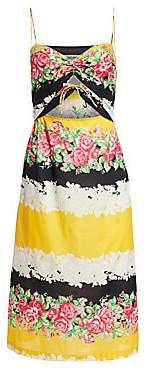 Rachel Comey Women's Chernist Floral Stripe Midi Dress