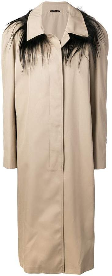 single breasted trench coat
