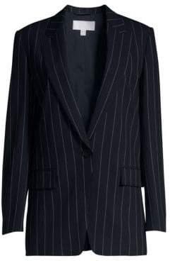 BOSS Women's Kocani Pinstripe Blazer - Dark Navy - Size 0
