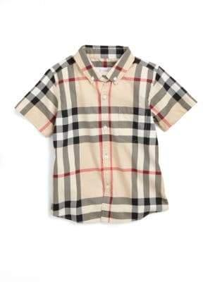 Burberry Boy's Check Shirt
