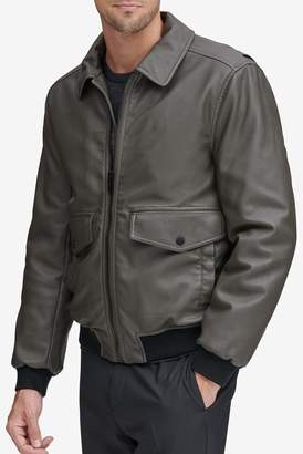 Andrew Marc Westerly Faux Leather Bomber Jacket