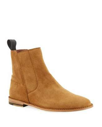 Bottega Veneta Men's Spritz Suede Side-Zip Chelsea Boots