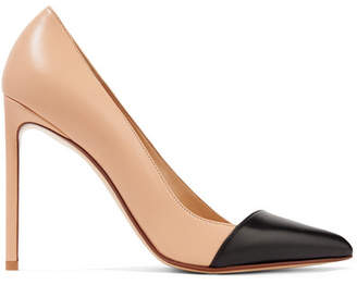 Francesco Russo Two-tone Leather Pumps - Sand