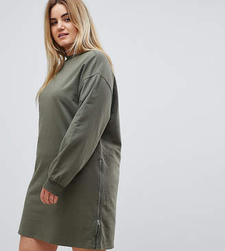 Asos Oversized Sweat Dress with Zip Detail