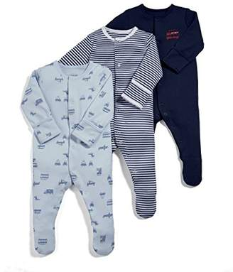 Mamas and Papas Baby Girls' Pack of 3 Transport Sleepsuits Sleepsuits,(Manufacturer Size: New Born) pack of 3