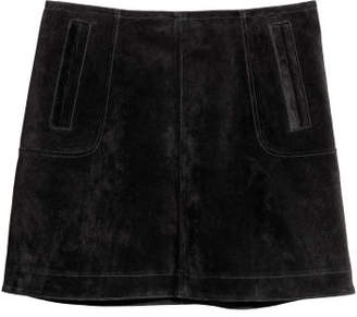H&M Short Suede Skirt - Black