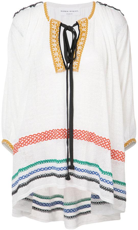 Sonia RykielSonia Rykiel embroidered tunic top