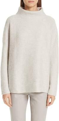 Lafayette 148 New York Intersecting Stitch Cashmere & Silk Sweater