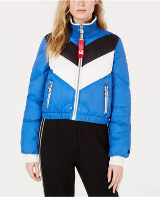 Starter Graphic Colorblocked Puffer Jacket