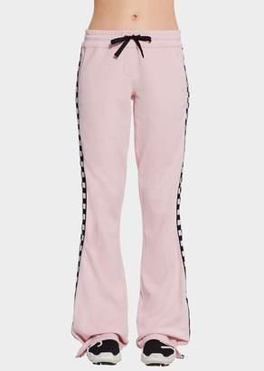 Versace Checkerboard Ribbon Sweatpants