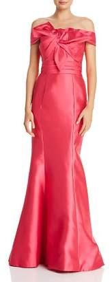 Basix II Off-the-Shoulder Silk Gown