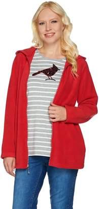 Factory Quacker Fleece Jacket and Sequin Long Sleeve T-shirt Set
