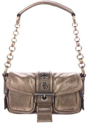 Prada Vitello Daino Metallic Shoulder Bag