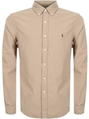 Ralph Lauren Long Sleeved Slim Fit Shirt Beige