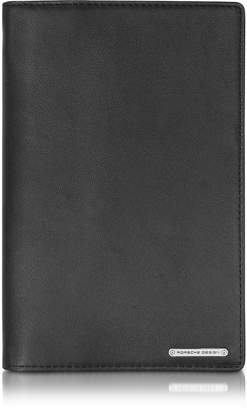 Porsche Design CL 2.0 Black Large Leather Travel Wallet w/Zip Pocket