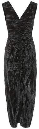 Isa Belle Rejina Pyo Isabelle crushed-velvet dress