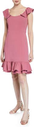 Nanette Lepore Nanette Double Flounce-Hem Sheath Dress