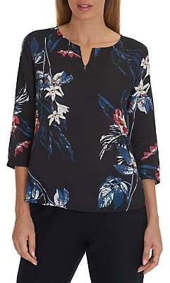 Co Betty & Floral Print Tunic, Dark Blue