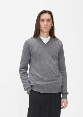 Comme des Garcons Small Red Heart Sleeve V-Neck Pullover