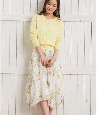 Noela (ノエラ) - Noela 【Ray4月号掲載】デルフィニウムブーケ柄スカート