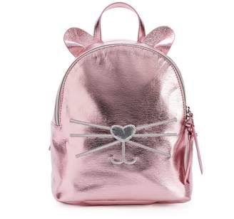 T-Shirt & Jeans T Shirt & Jeans Metallic Cat Backpack