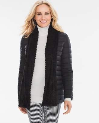 Faux-Fur Trim Puffer Jacket