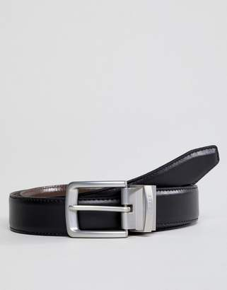 Esprit Leather Belt In Reversible Black/Brown