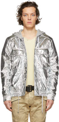 Balmain Silver Metallic Jacket