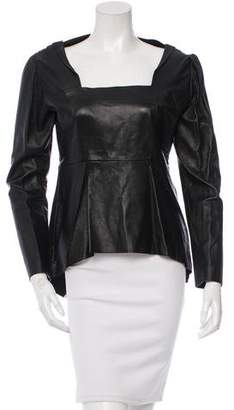 Sharon Wauchob Leather Long Sleeve Top w/ Tags