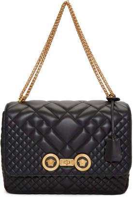 Versace Black Quilted Icon Shoulder Bag