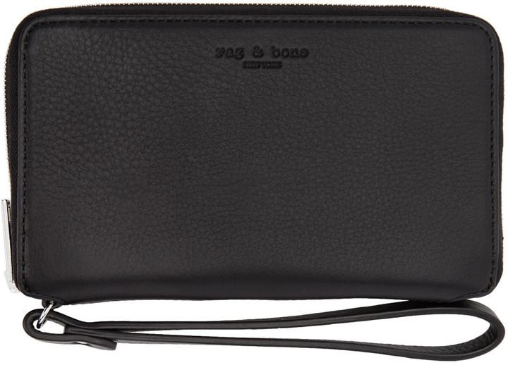 Rag & Bone Black Phone Wristlet Wallet